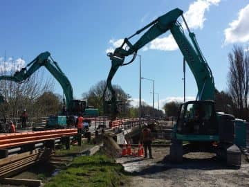 Opawa Bridge Sheet Piling project image